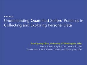 01 - Understanding Quantified Selfers